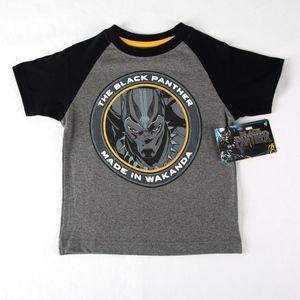 MARVEL Black Panther Black/Grey Shirt Size 4 NEW